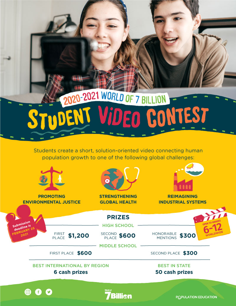 W7B Student Video Contest 2020-2021 Flyer